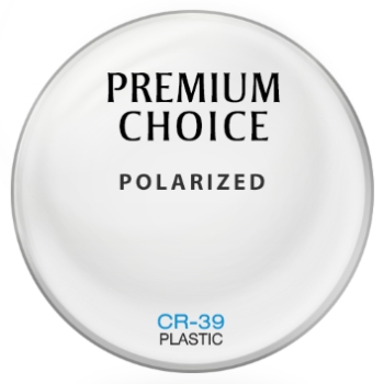 Premium Choice Polarized [Gray] Plastic CR-39 Plano Lenses